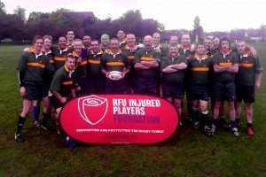A fine bunch of fit gentlemen who managed to break away from their rigorous warm up (drinking) for a few minutes