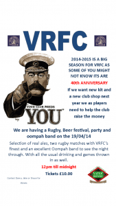 Easter...Rugby....Real Ale......and OOMPAH!