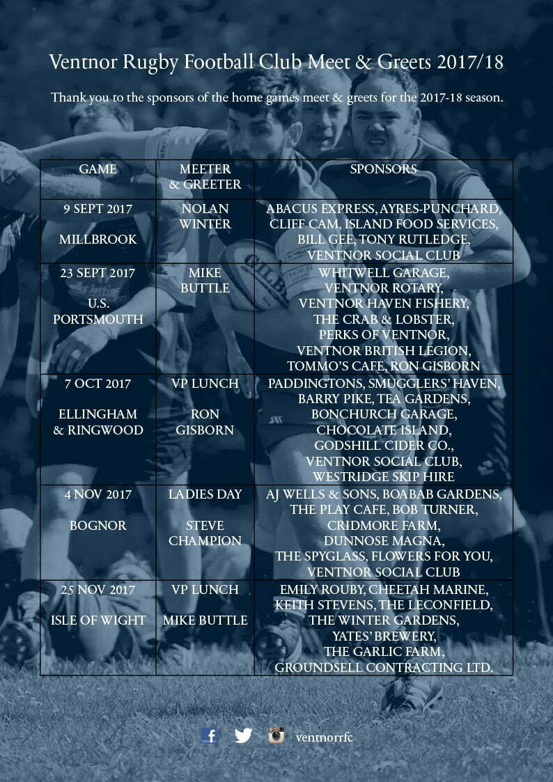 Ventnor RFC-meet-and-greets-2017-18 season-1