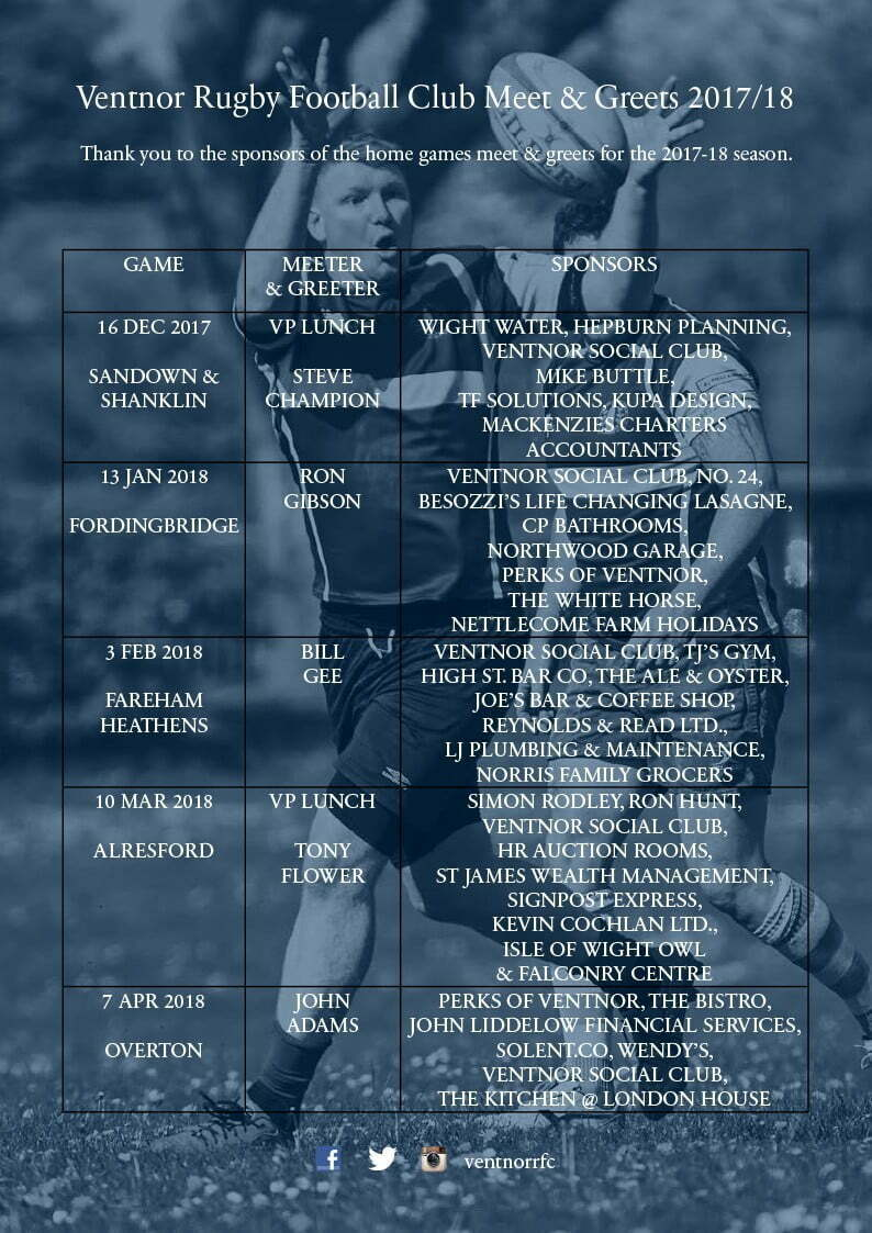 Ventnor RFC-meet-and-greets-2017-18 season-2