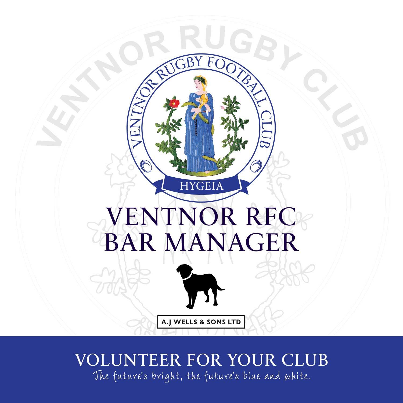 Vacancy for 2018/19 Season: Ventnor RFC Bar Manager