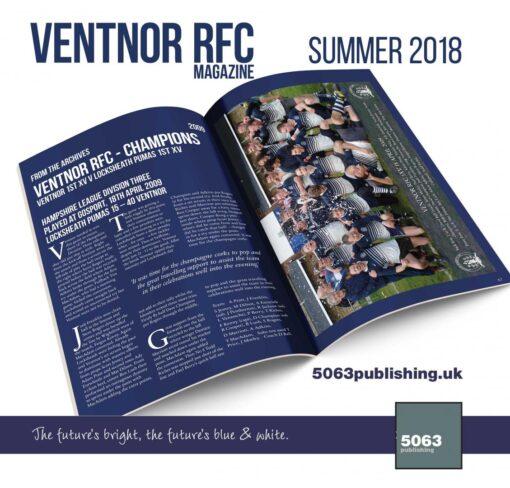 ventnor rfc magazine summer 2018 mockup ventnor rfc champions 18042009
