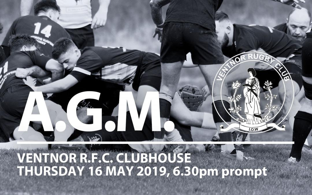 Ventnor RFC AGM May 2019 Minutes