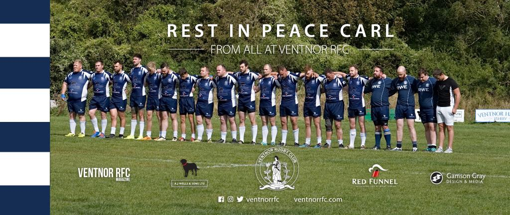A minutes silence was held before the game in remembrance of Carl Crawley ventnor rfc 07092019