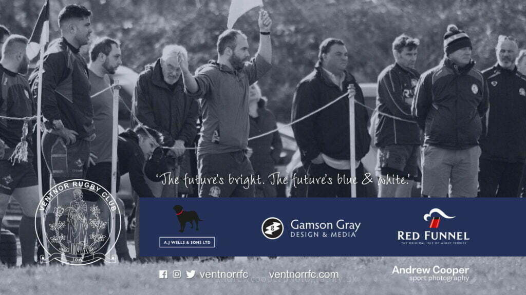 Fergus Kenny, coach of Ventnor RFC, here as linesman at Watcombe Bottom in the 2020/21 season.