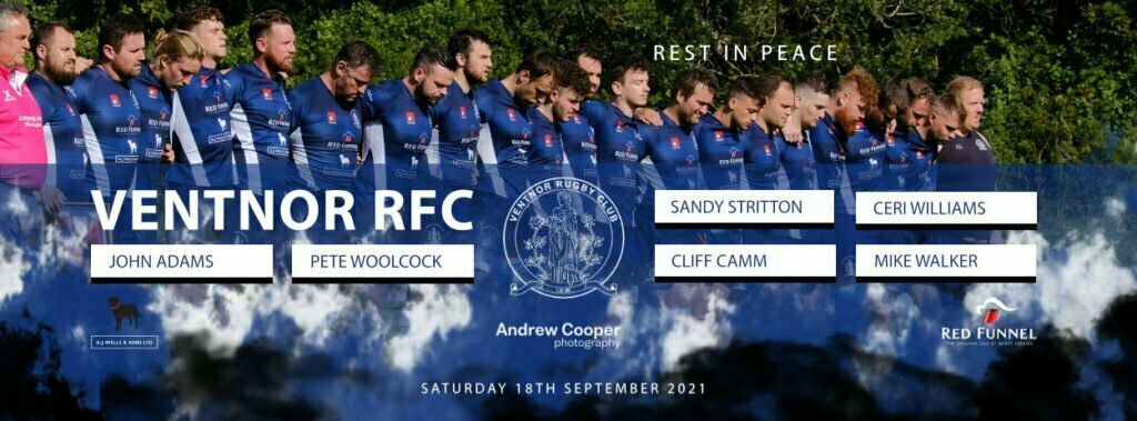 Tribute to those lost from Ventnor RFC since last rugby at the club