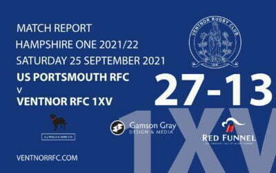 US Portsmouth RFC 1XV 27-13 Ventnor RFC 1XV 25 September 2021