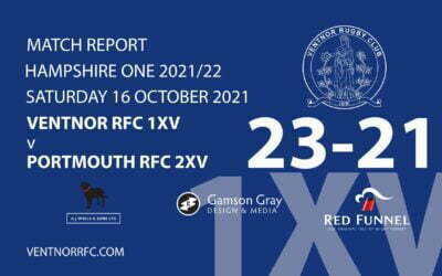 Ventnor RFC 1XV 23-21 Portsmouth RFC 2XV Saturday 16 October 2021