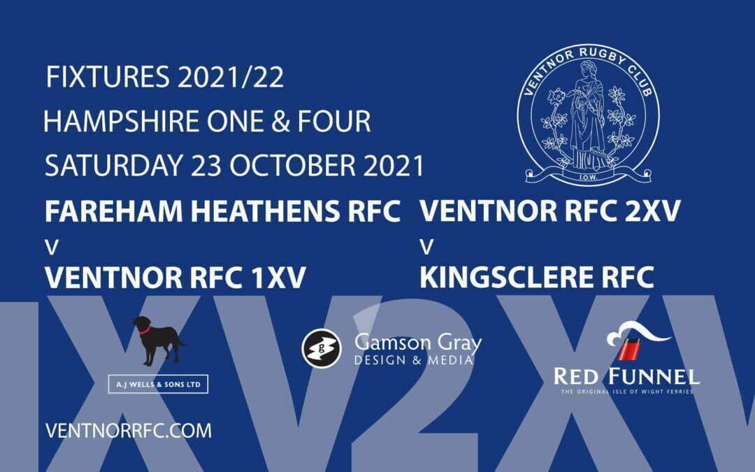 Ventnor RFC Rugby at Watcombe on Saturday 23 October 2021