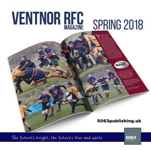 VRFC magazine spring 2018 mockup spread 2500g