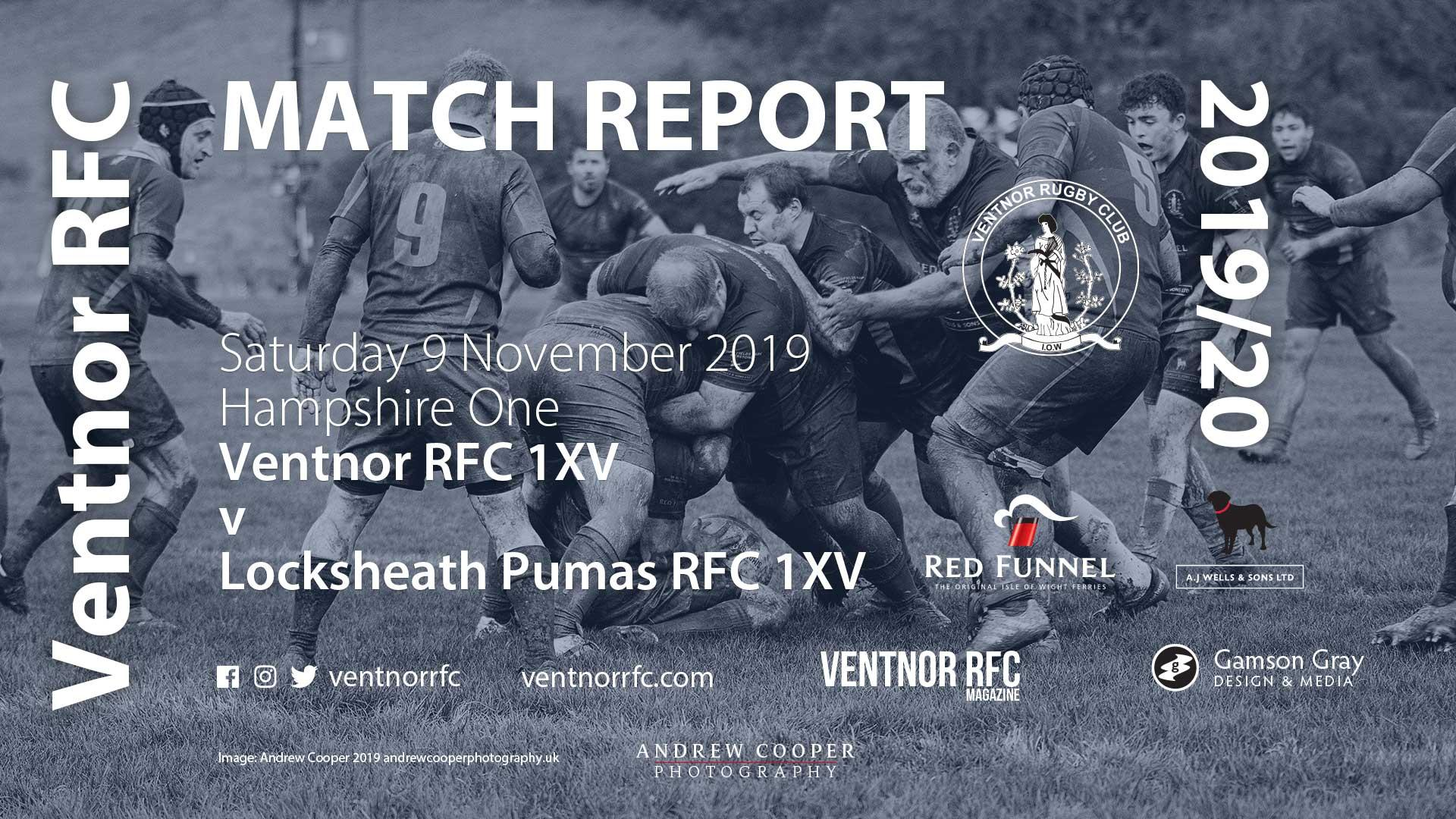 Ventnor RFC 1XV 8-36 Locksheath Pumas RFC 1XV, 9 Nov 2019