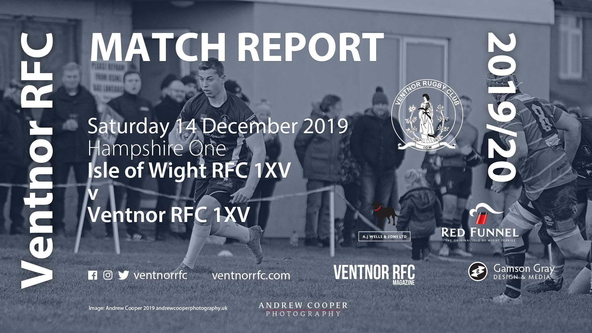 Isle of Wight RFC 1XV 27-8 Ventnor RFC 1XV, 14 Dec 2019