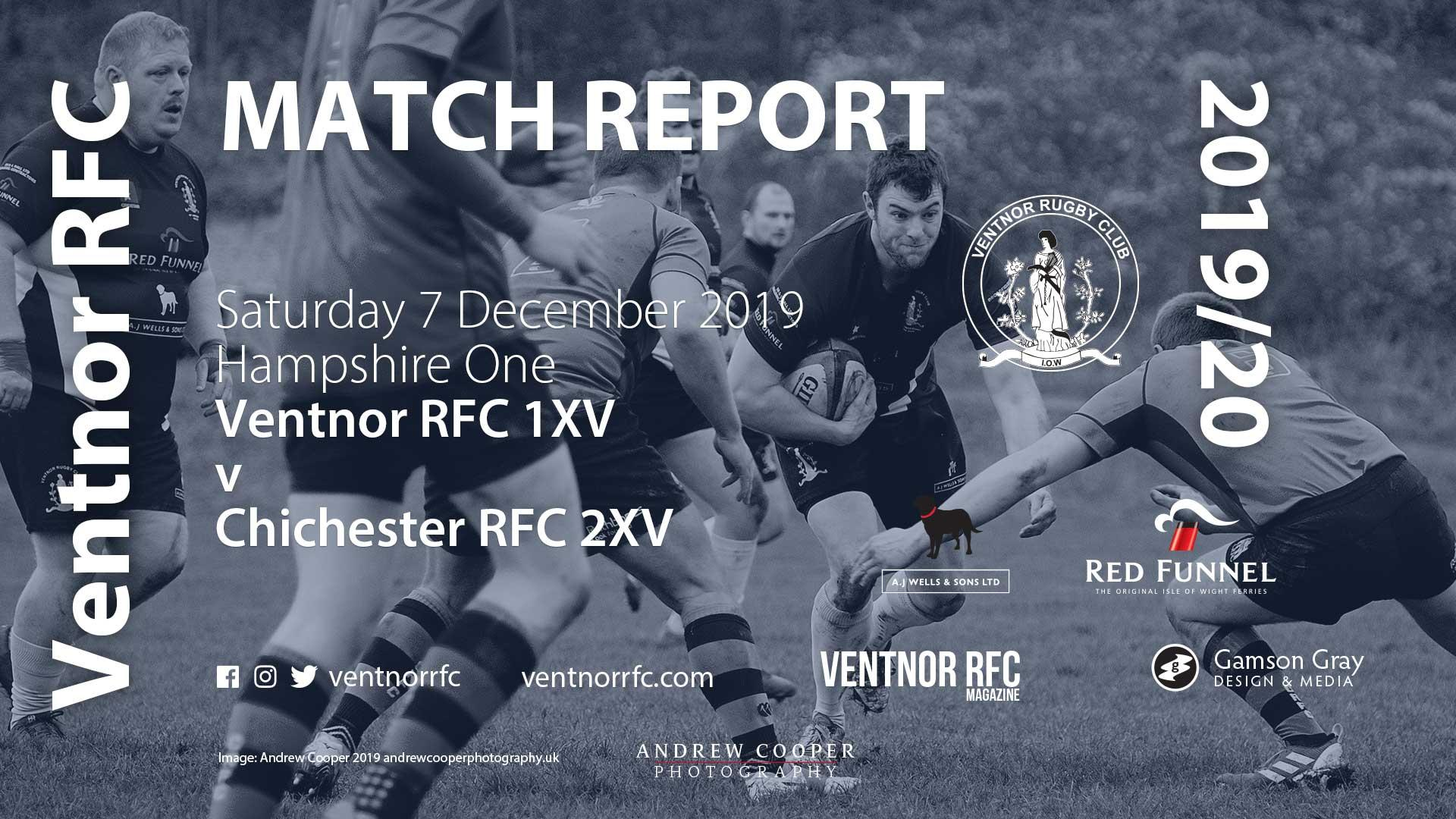 Ventnor RFC 1XV 15-25 Chichester RFC 2XV, 7 Dec 2019