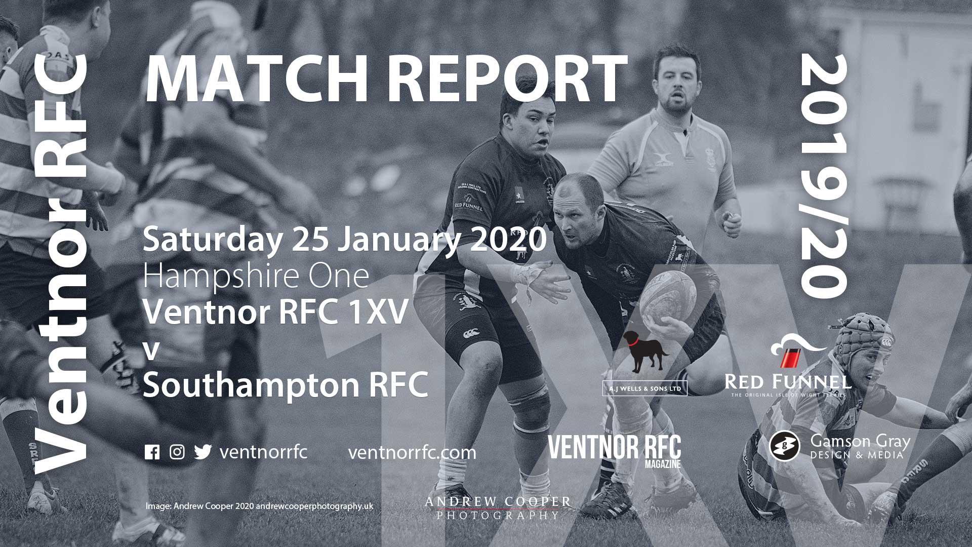 Ventnor RFC 1XV 51-22 Southampton RFC, 25 Jan 2020