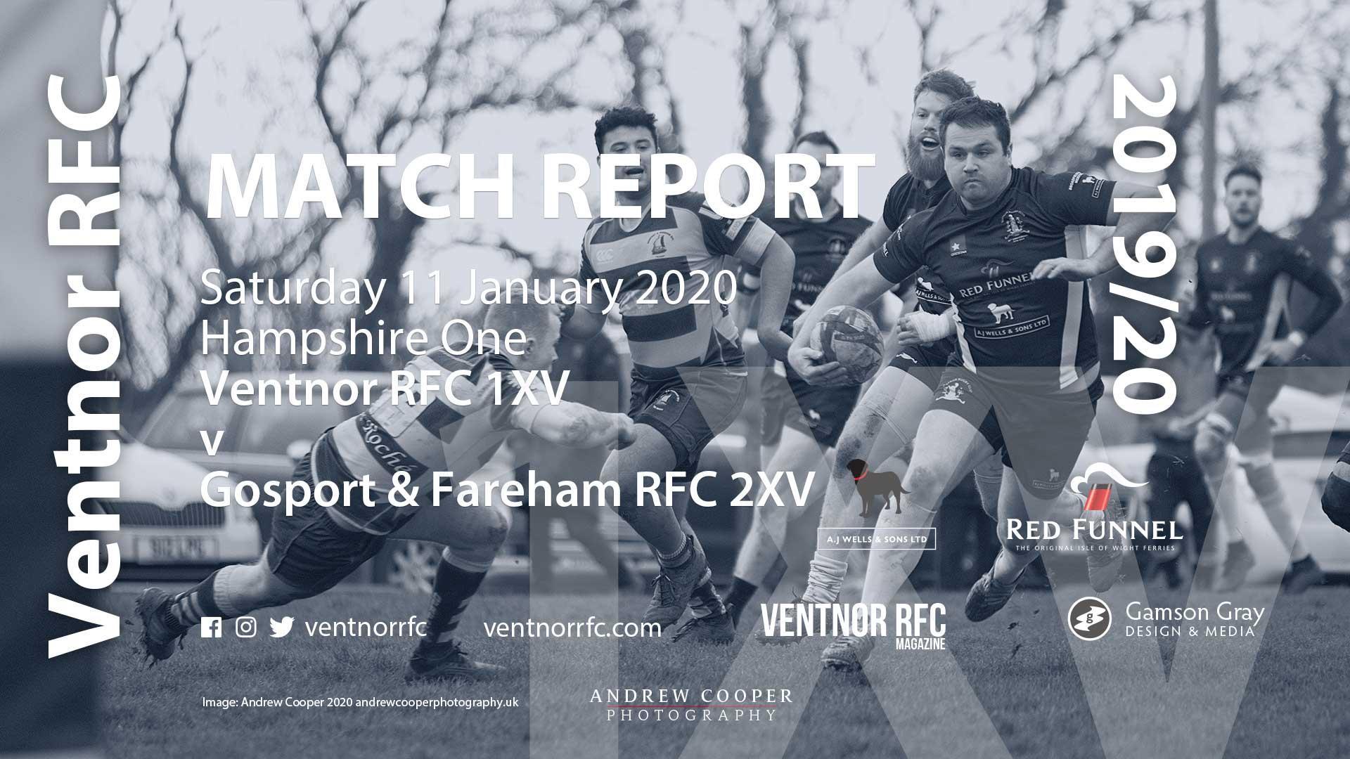 Ventnor RFC 1XV 41-19 Gosport & Fareham RFC 2XV, 11 Jan 2020