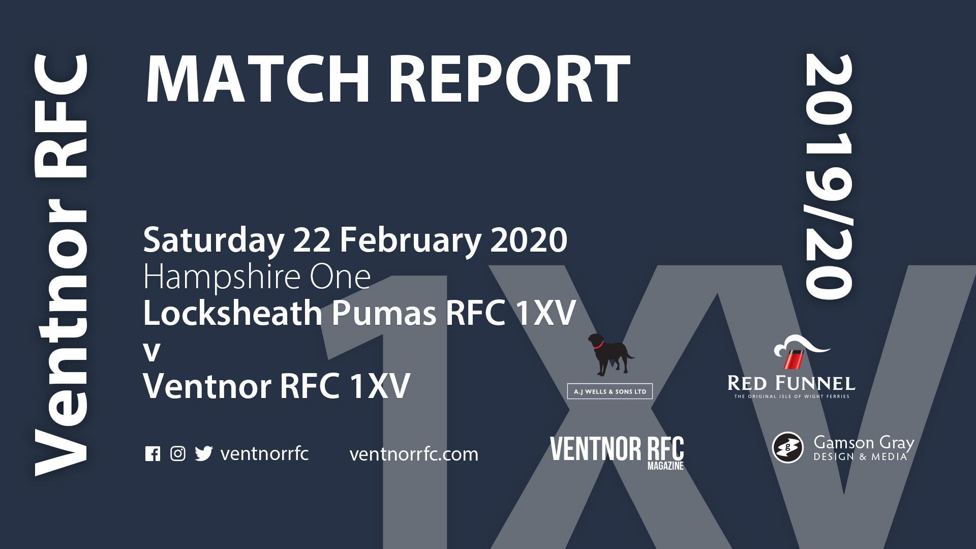 Locksheath Pumas RFC 1XV 22-14 Ventnor RFC 1XV, 22 February 2020