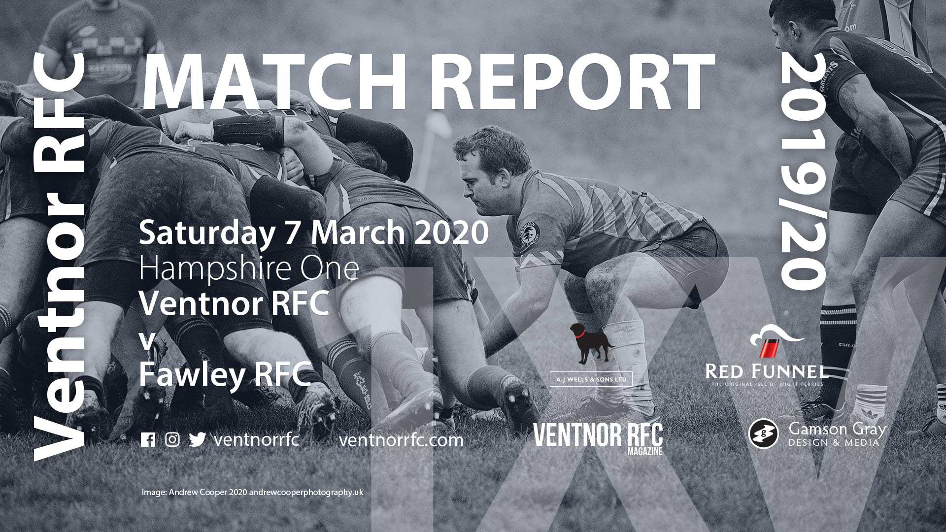 Ventnor RFC 1XV 34-5 Fawley RFC, 7 March 2020