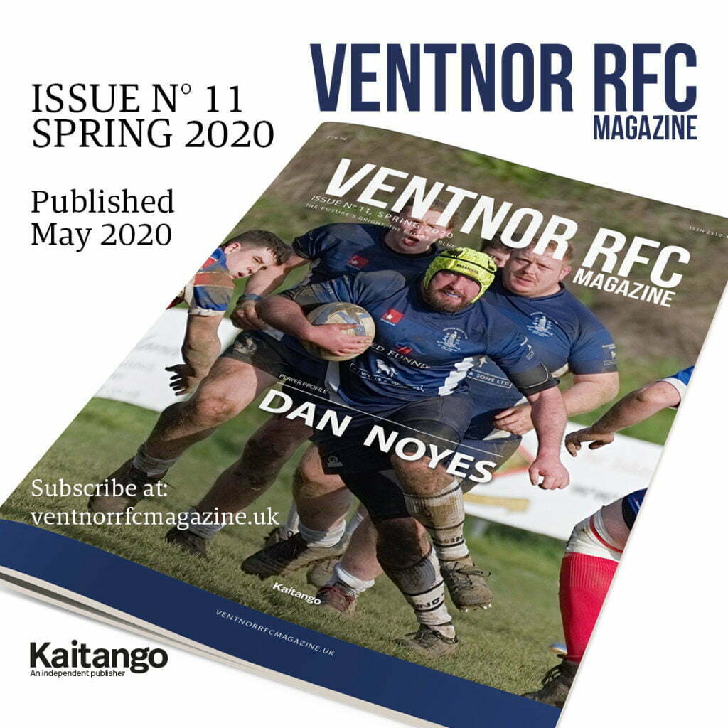Ventnor RFC Magazine, Issue 11 Spring 2020 fron cover