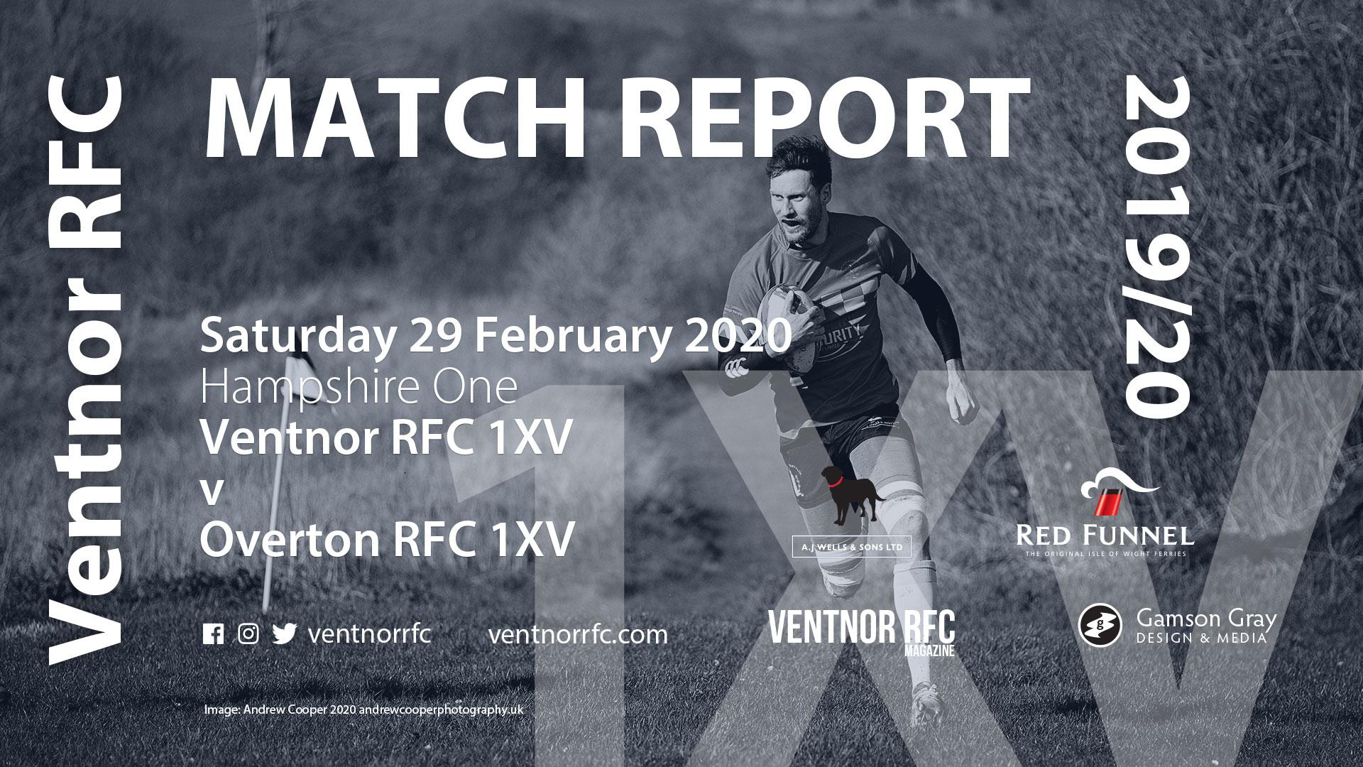 Ventnor RFC 1XV 12-18 Overton RFC 1XV, 29 February 2020