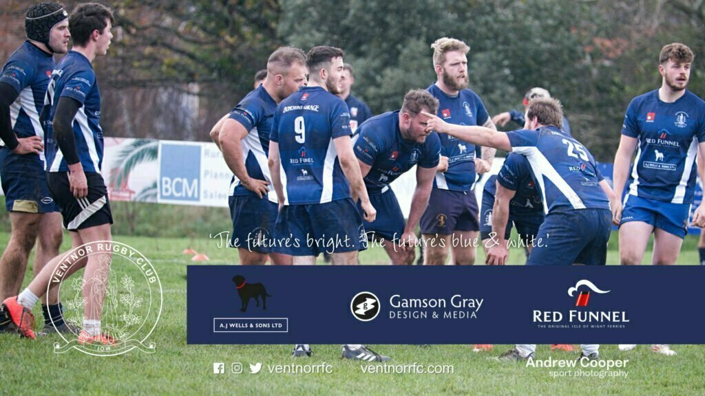 Ventnor RFC Captain Lewis Jones gives advice to the team in the Sandown and Shanklin RFC v Ventnor RFC game of 5 Dec 2020
